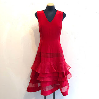 Charles Youssef NEW Red Dress
