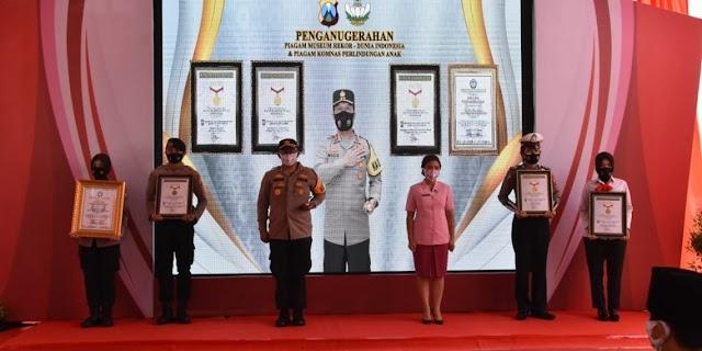 Polres Trenggalek Pecahkan Rekor MURI dan Terima Penghargaan Komnas PA, Kapolda Jatim Berikan Apresiasi