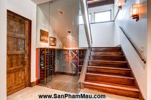 Mẹo thiết kế tủ cầu thang hữu ích - Tủ âm tường gỗ-4