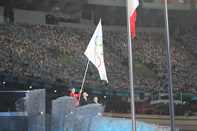 Handover of the Olympic flag from the Mayor of Vancouver