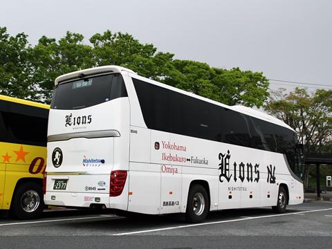 西鉄高速バス「ライオンズエクスプレス」 8545 リア