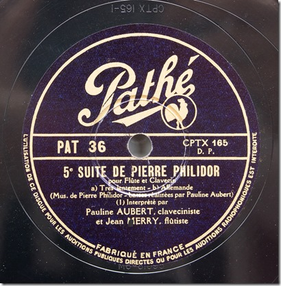 Pathé PAT 36 [CPTX 165] label