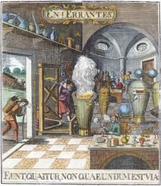 Frontispiece Falscher Und Wahrer Lapis Philosophorum 1752, Alchemical And Hermetic Emblems 2