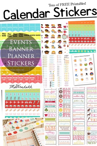 photograph regarding Printable Calendar Stickers identify Musings of an Ordinary Mother: Free of charge Calendar stickers