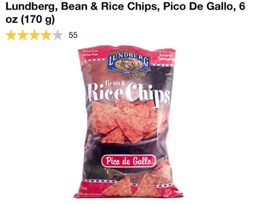 رقائق تشيبس باربكيو بنكهات متعددة من اي هيرب  Lundberg, Rice Chips