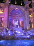 And by a colorful fountain outside the Forum Shops - aka their Trevi Fountain