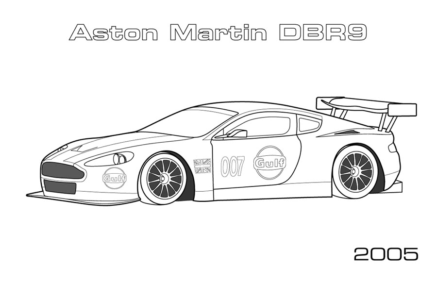 coloring pages of aston martins - photo#22