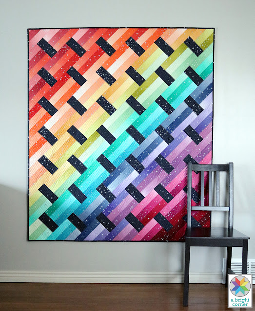 Fast Track quilt pattern by Andy Knowlton of A Bright Corner - great for using precuts or fat quarters