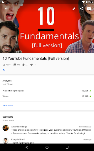 YouTube Studio screenshot 12