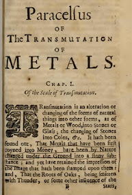 Cover of Paracelsus's Book The Transmutation of Metals