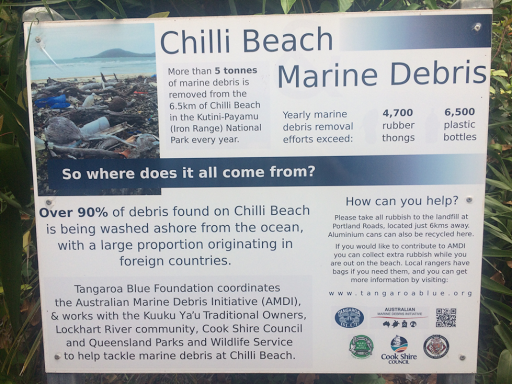Information about the rubbish on Chili Beach