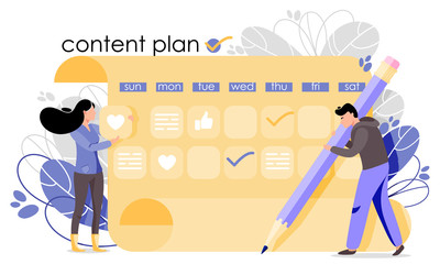 Plan konten sosial media