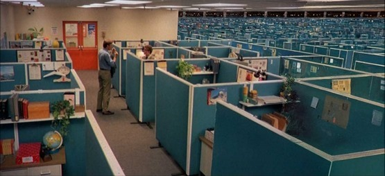 Cubicle farm from 'Tron'