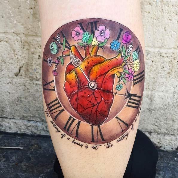 Este vivas coração relógio