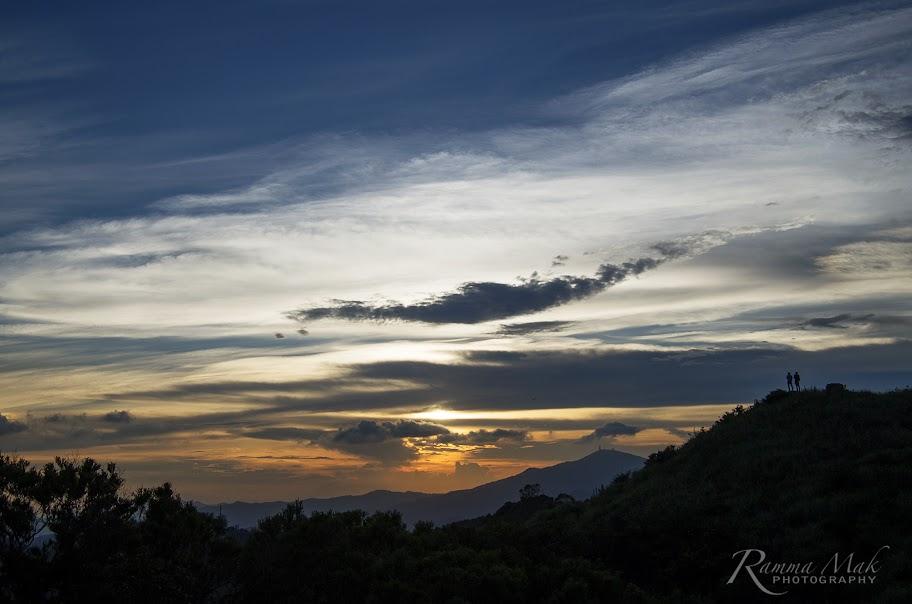 從觀景台回頭看日落