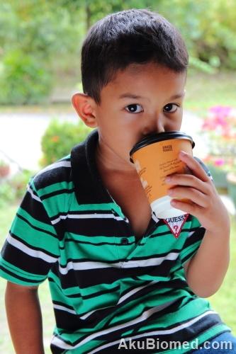 aslah minum air kopi