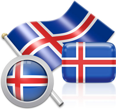 Icelandic flag icons pictures collection