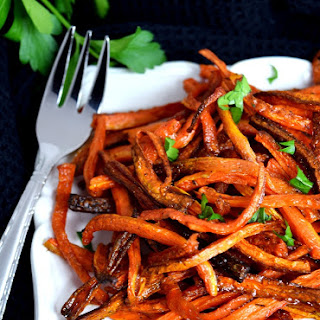 Baked Carrot Fries with Thyme.