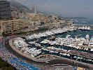 Monaco Harbour overview towards Casino
