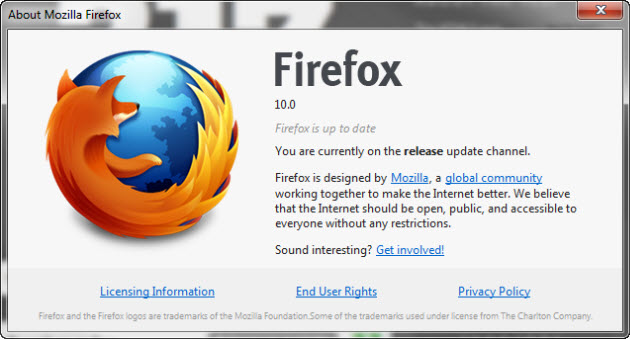 Mozilla Firefox 10 Download for Windows