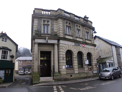 HSBC Bank building at Llanfair Caereinion which is being sold through Morris, Marshall and Poole