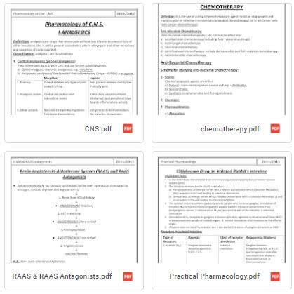 محاضرات علم الأدوية pdf