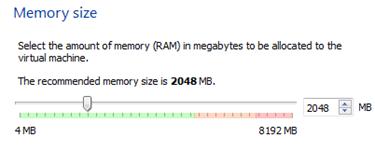 Menentukan kapasitas memori virtual
