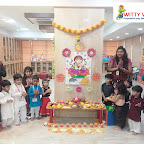 Ganesh Chaturthi Celebration by Playgroup Section at Witty World, Bangur Nagar (2018-19)