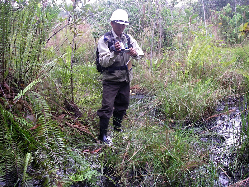 An indigenous community monitor documents legacy contamination in Oil Block 8