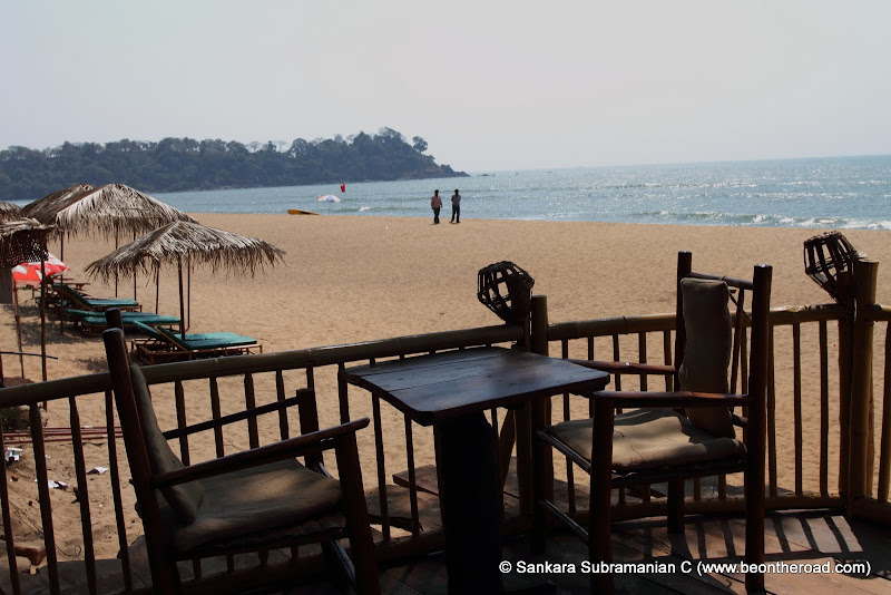 Stunning beach view from Cortas restaurant, Rajbaga Beach