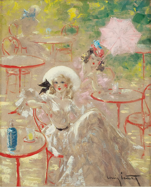 Louis Icart - Cafe au Bois