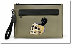 Disney Skull Pouch in Army Green (32647)