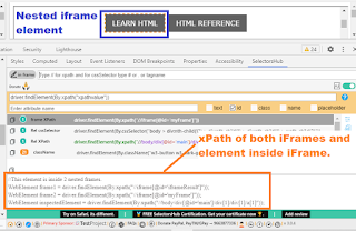 locate nested iframe element