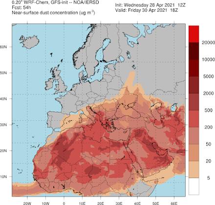 Σε υψηλά επίπεδα για την εποχή η θερμοκρασία αύριο στη χώρα -  Υψηλές συγκεντρώσεις Αφρικανικής σκόνης