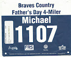 ATC Father's Day 4-miler, Mike's race bib