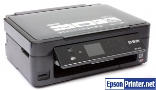 How to reset flashing lights for Epson XP-405 printer