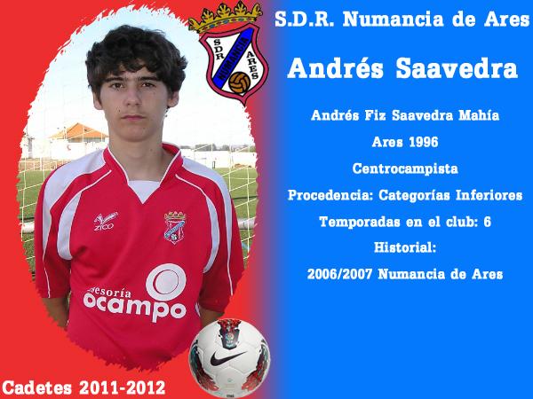 ADR Numancia de Ares. Cadetes 2011-2012. ANDRES SAAVEDRA.