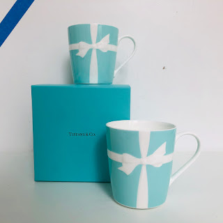 Tiffany & Co. Tiffany Blue Bow Mug Pair