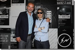 FLORENCE, ITALY - JUNE 13:  Remo Ruffini and Hiroshi Fujiwara attend MONCLER FRAGMENT Florence on June 13, 2018 in Florence, Italy.  (Photo by Vittorio Zunino Celotto/Getty Images for Moncler) *** Local Caption *** Remo Ruffini;Hiroshi Fujiwara