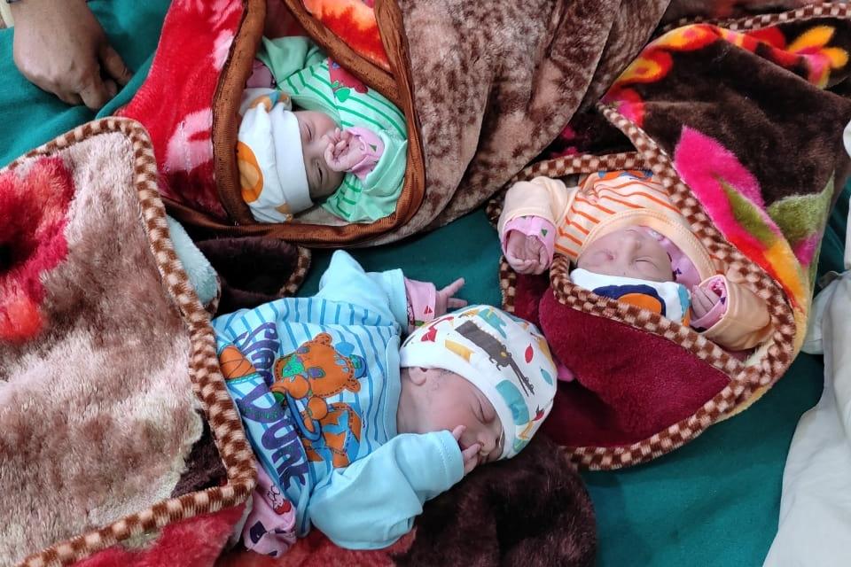 Woman gives birth to Three  babies in Srinagar LD Hospital