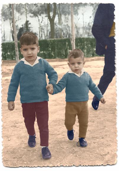 Imagen en banco y negro coloreada digitalmente