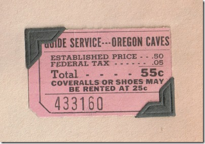 Oregon Caves ticket