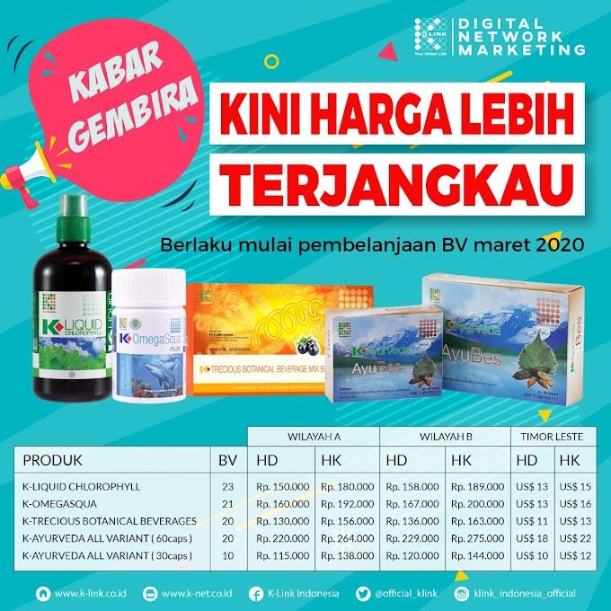 Harga Promosi Produk K Link