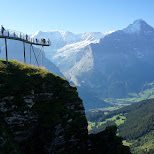 amazing cliff walk in Switzerland in Grindelwald, Bern, Switzerland