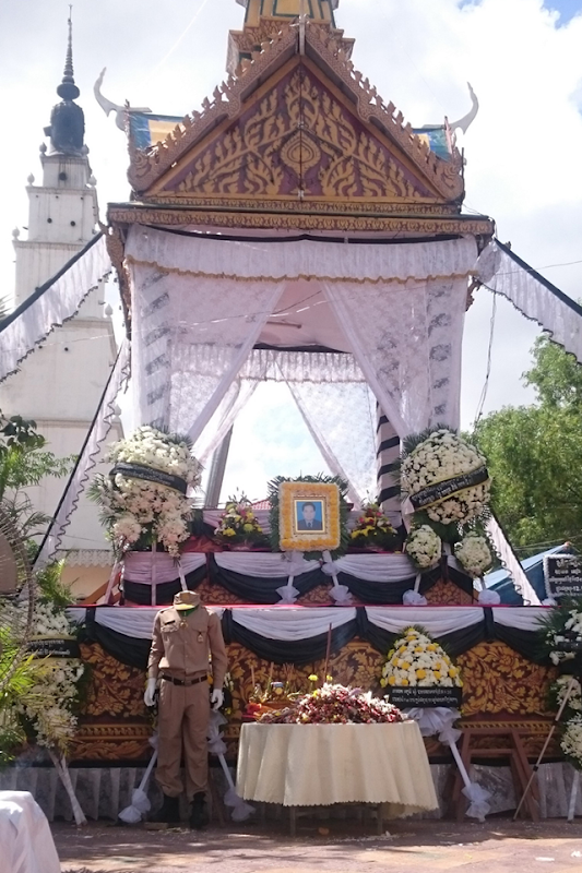 The funeral of Sieng Darong in Phnom Penh on 9 November 2015. Sieng Darong was a Forestry Administration ranger who was shot and killed while patrolling a protected forest in Cambodia. Photo: Colin Poole
