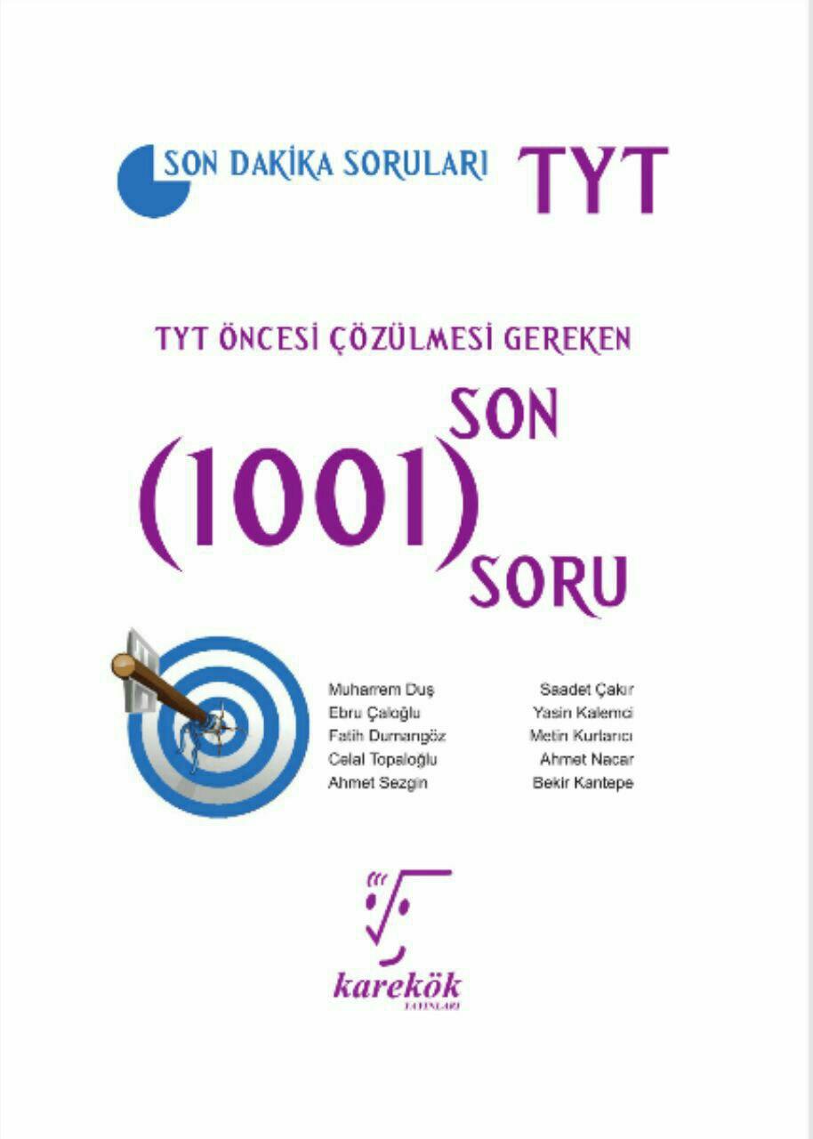 Karekök Yayınları TYT Öncesi Çözülmesi Gereken 1001 Soru