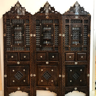 Hand-carved Moroccan Screen