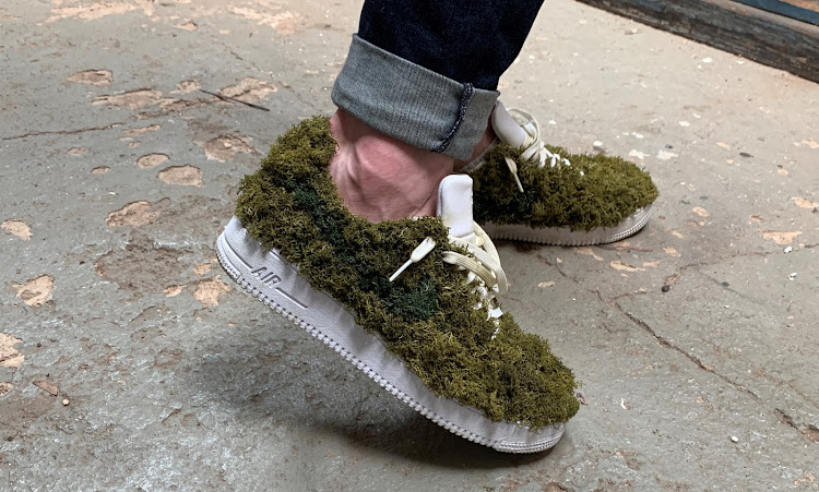 """The moss shoe is an idea of what the future of footwear could look like,"" says designer Matthew Edwards."