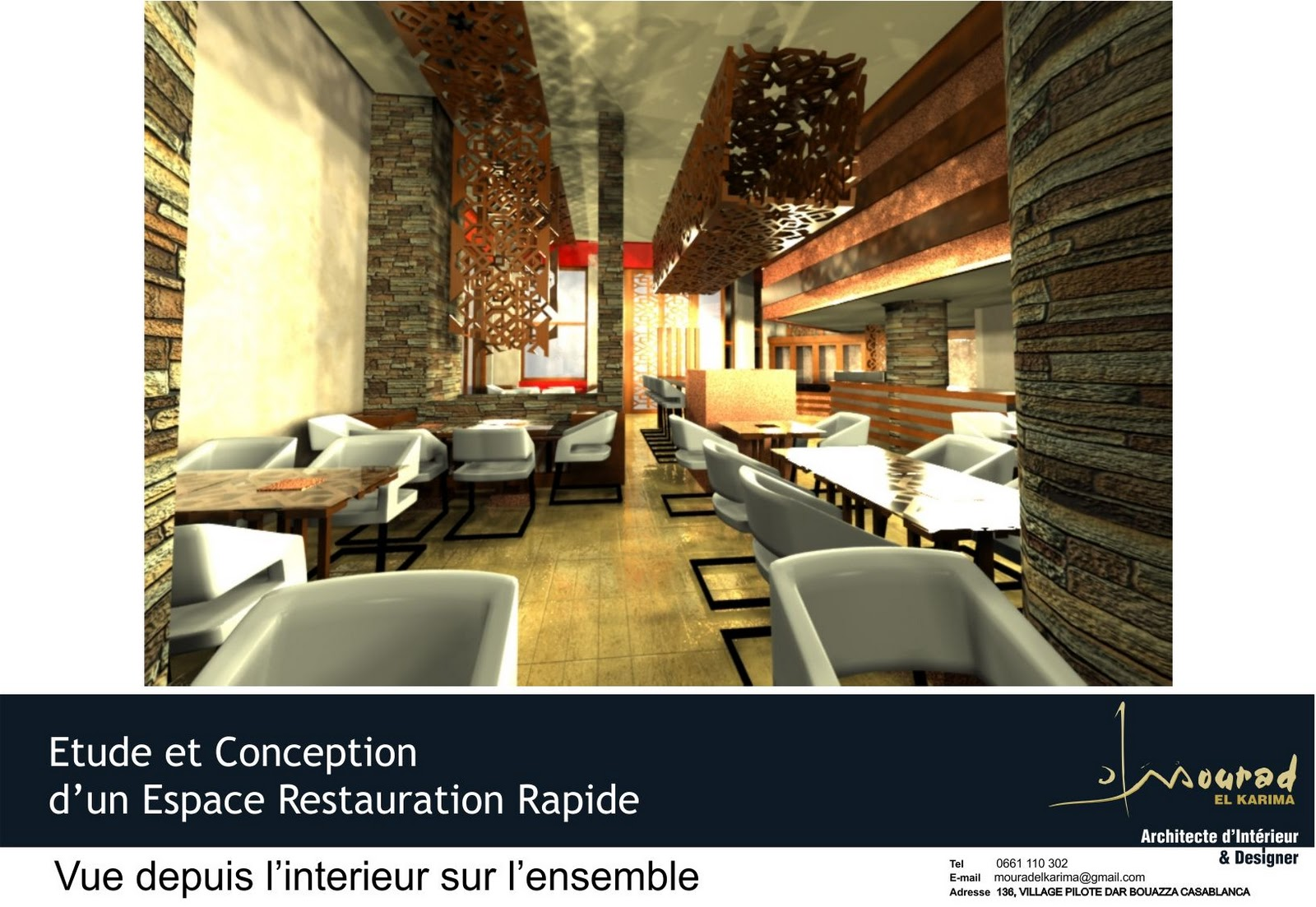 Concept d 39 architecture d int rieur restaurant traiteur for Architecte interieur restaurant