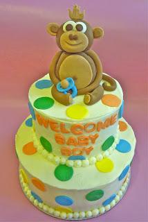 Monkey Jungle Baby Shower Cake
